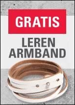 Gratis leren armband