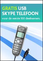 Gratis usb Skype telefoon